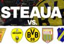 Palmares Steaua vs. Energia Metalul Galați, FC Brașov, Borussia Dortmund, CSM Flacăra Moreni și FC Tractorul Brașov