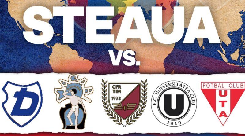 Palmares Steaua vs. Dermata, Ciocanul, CFR Timișoara, U Cluj și UTA Arad