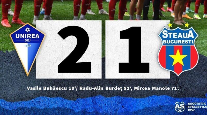 Etapa a VI-a: Unirea Dej 2-1  Steaua
