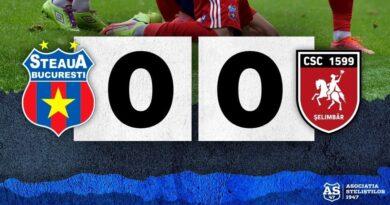 Etapa a VII-a: Steaua 0-0 CSC 1599 Şelimbăr