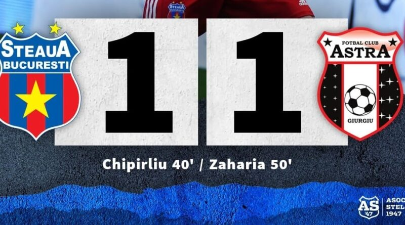 Etapa a X-a: Steaua 1-1 Astra Giurgiu