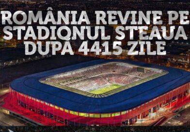 Naționala României revine pe Stadionul Steaua